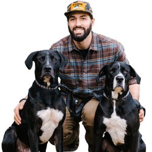 Owner of Greener Grounds with Dogs