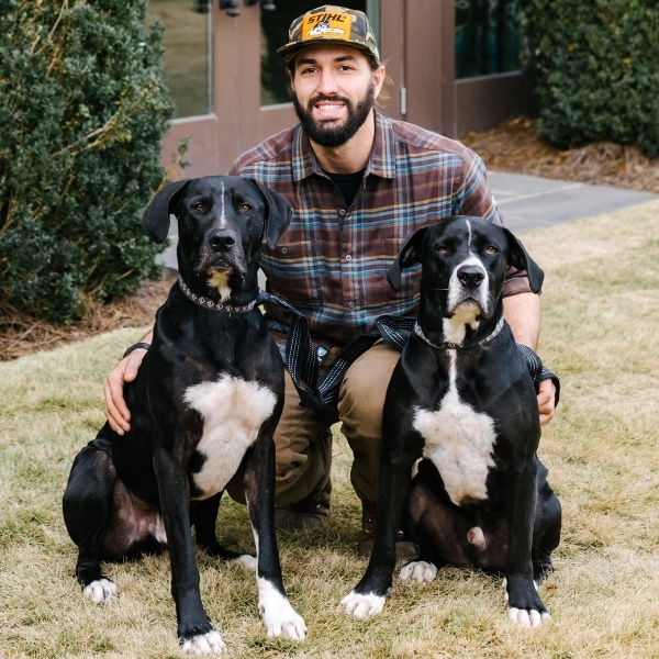 Birmingham Lawn Business Owner with Dogs